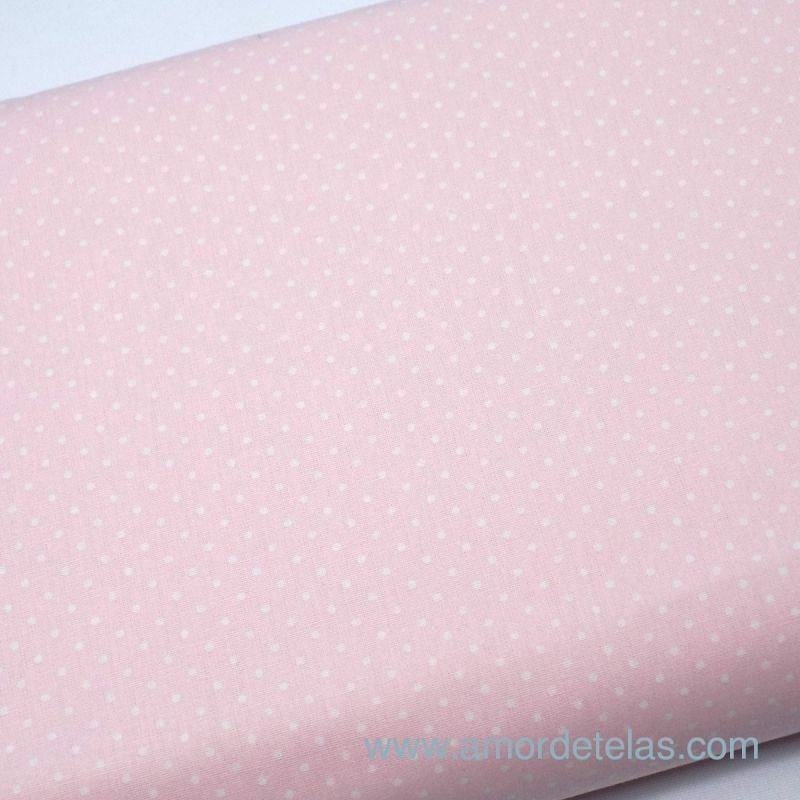 Popelin dots Light Pink